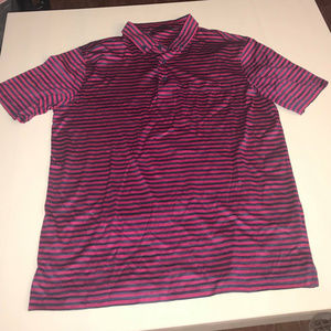 NWOT Nordstrom Bugatchi Striped Polo Size Large Pk
